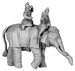 ANC20162 - Hellenistic Elephant, with 2 crew, Pike Astride Right